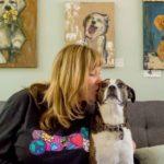 Nancy with dog
